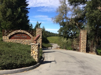 Entrance to winery.
