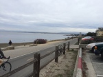 Coastal road and bike path in Monterey.